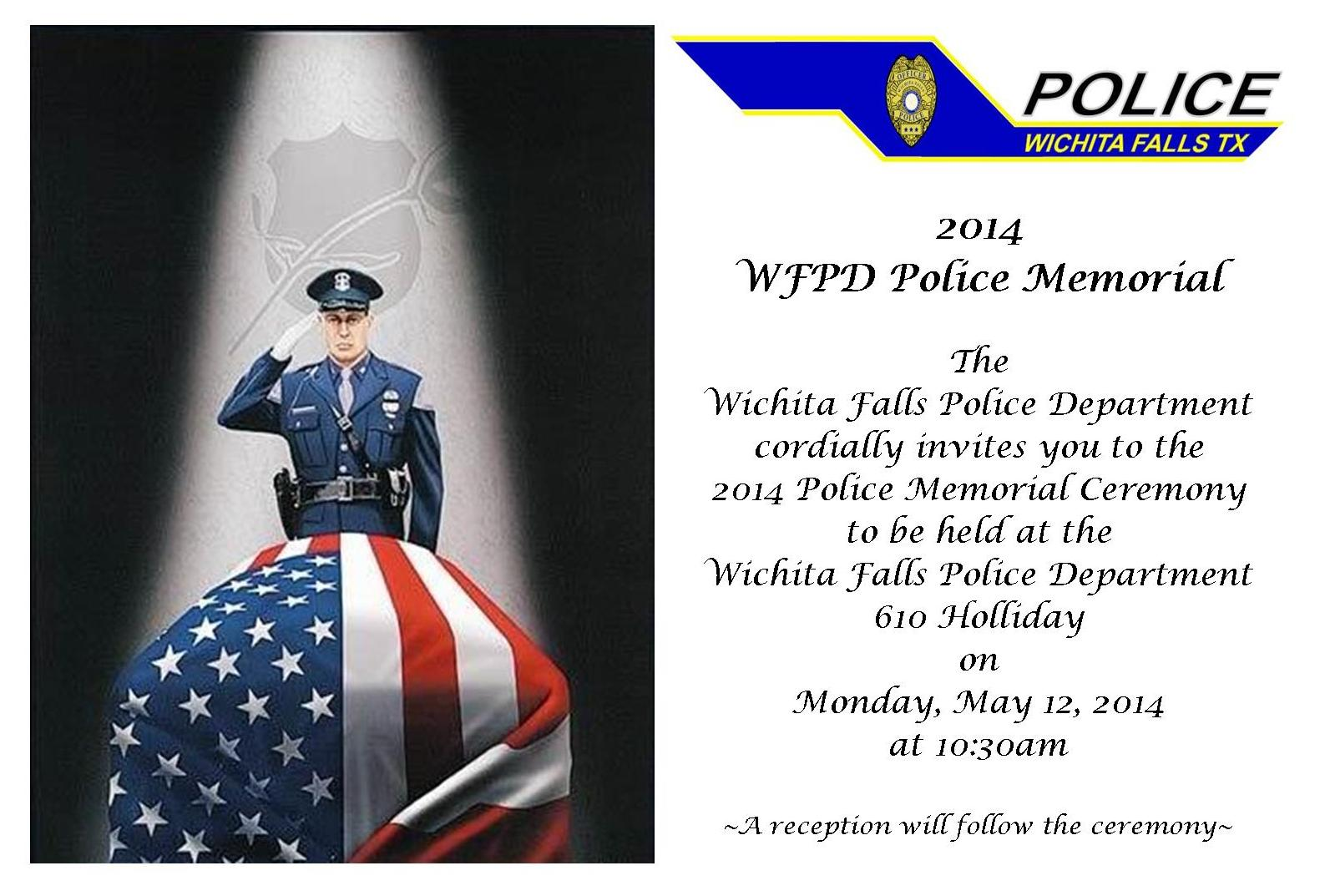 Mark your calendar for the 2014 Police Memorial Service ...