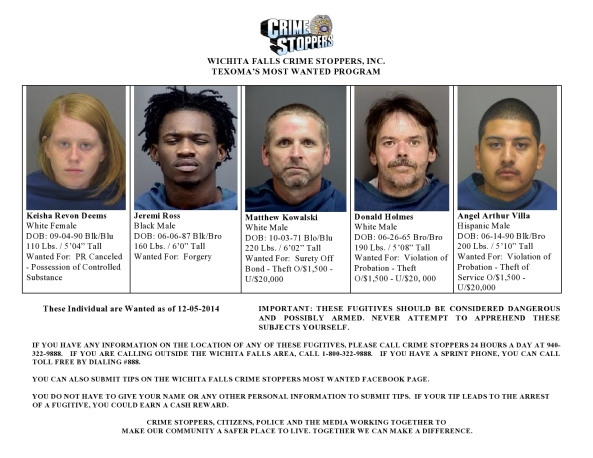 Texoma's Most Wanted 12-05-2014-page0001